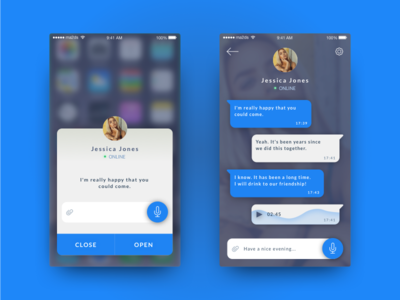 Daily UI / #013 Direct Messaging dribbble iphone ux design design visual design direct messaging day13 daily ui art direction