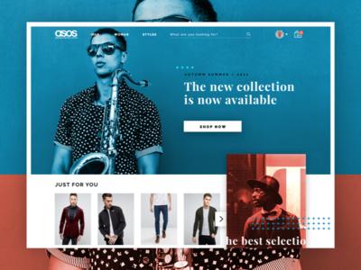 Asos Redesign - Concept branding graphic design concept ux design ui design visual design art direction restyling redesign asos