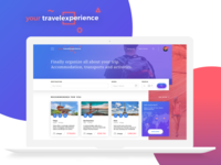 Your Travel Experience - Homepage Concept desktop view