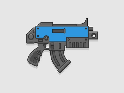 Bolter weapon spacemarine illustration icon bolter 40k warhammer wh
