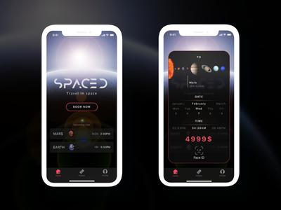 Space Travel App iphonex tickets travel space spacedchallange