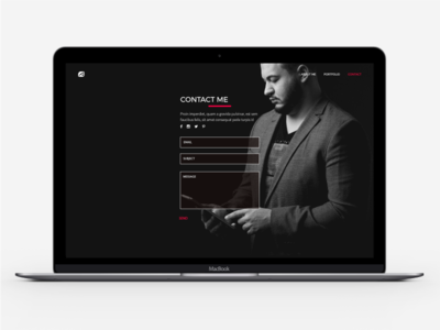 Webdesigner Portfolio Page fullpage white black minimal portfolio webdesigner