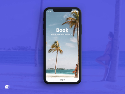 Travel App Login Screen