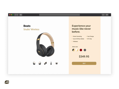 Beats Studio 3 Checkout Concept checkout form checkout beats by dre store dailyui