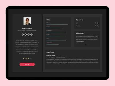 User Business Profile job app skills ios app ios business app user profile user interface ipadpro ipad dailyui