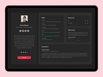 User Business Profile