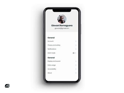 Profile Settings Dark Mode uitrends ios app iphone app mobile app dark ui dark mode user profile settings dailyui uiux ui design ui