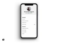 Profile Settings Dark Mode