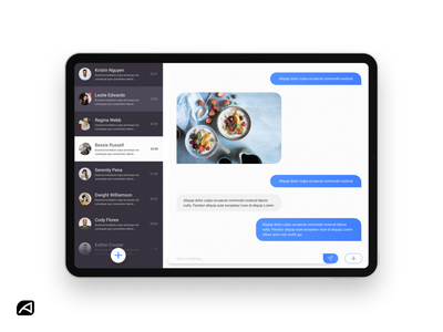 Direct Messaging App ui clean minimal messenger ipados ios messages app message dailyui