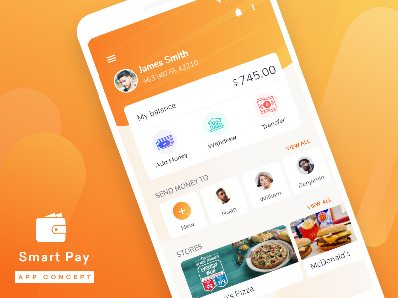 Smart Pay App offers the easiest way to send or receive money  by