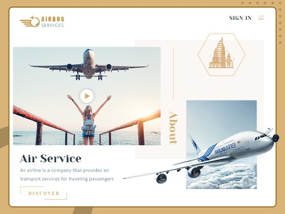 Flight booking concierge services - Landing Page concept booking traveller passenger luxury creative service web online landing page flight booking