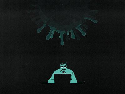 COVID 19 : PARANOIA poster virus cover design comic illustration covid19