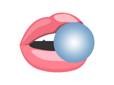 Bubblegum packaging flavicon icon fruit flavour logo
