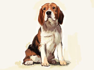 Pupper puppy dog illustration