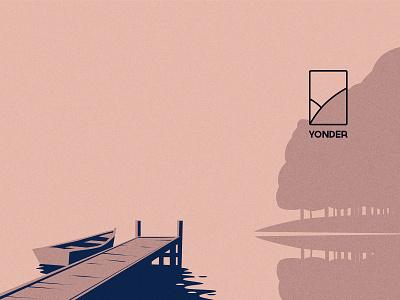 Yonder Illustration / Logo Design vector drawing poster branding design landscape logo icon illustration