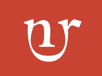 Logo Narratori Riuniti typography typedesign bembo design branding brand logo