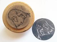 hand-made budgie stamp