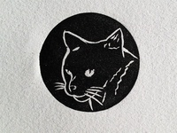 hand-made cat stamp