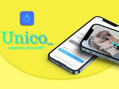 Unico_ social application graphic design typography ux vector logo icon design ui branding app