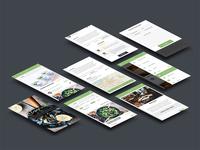 EnjoyFresh Mobile Screens