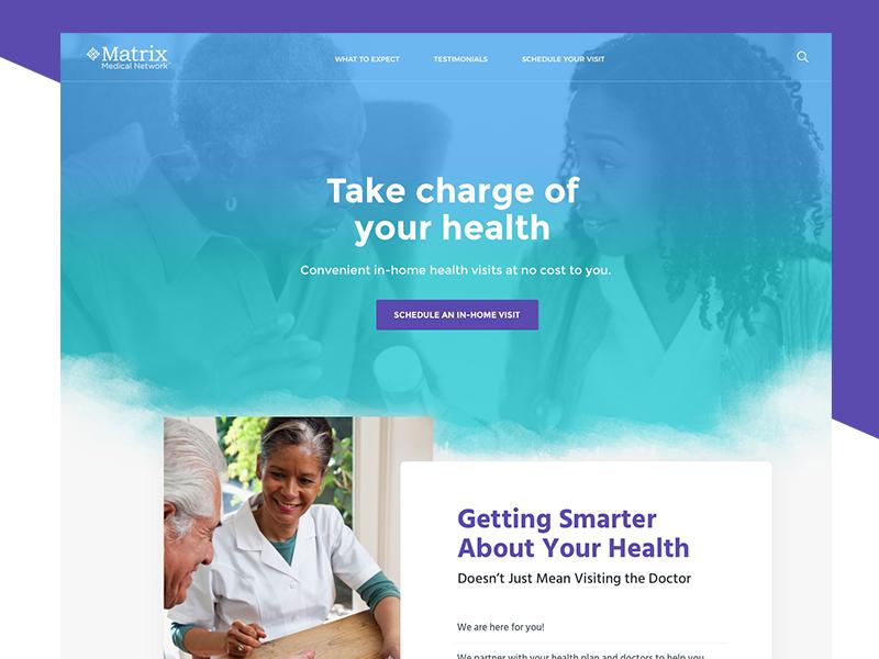 Matrix Member Healthcare Site By Elizabeth Alli On Dribbble