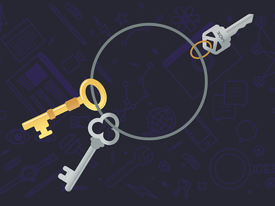 """Keyword Research"" Illustration purple keys illustration vector"