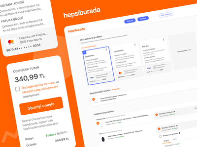 Hepsiburada OPC payment payment options payment summary cart eticaret orange one click checkout ecommerce template delivery basket checkout one page checkout opc hepsiburada