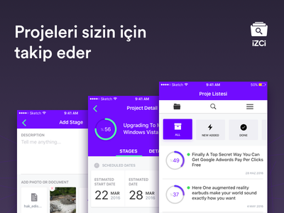 IZCI App iOS UI design mobile circular item categorty list user interface ui ios