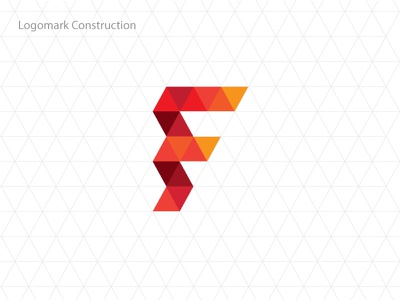 Akademik Fenomen Construction fenomen hexagon grid pattern geometric triangle logo logo construction logomark
