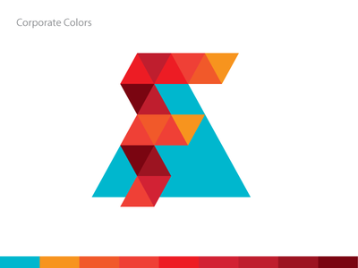 Akademik Fenomen Corporate Colors colors corporate triangle pattern logomark logo hexagon grid geometric fenomen construction