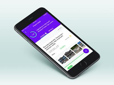IZCI App tab photos add plus list stats circular card ios app izciapp
