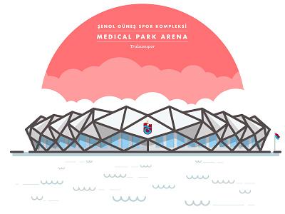 Trabzonspor — Şenol Güneş Spor Kompleksi Medical Park Arena iconic illustration football arena trabzonspor stadium