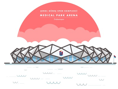 Trabzonspor — Şenol Güneş Spor Kompleksi Medical Park Arena iconic illustration football arena trabzonspor stadium