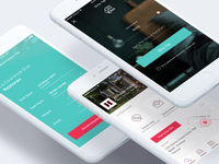 Hotel App — Login, Reservation, Contact Pages