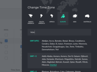 Change Time Zone Modal