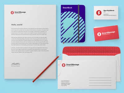 Smartmessage Branding cover book moleskine a4 letter business card envelope smartmessage identity corporate branding