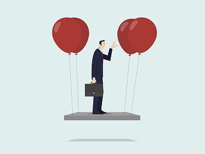 Self Sabotage concept business stock adobe illustration vector sabotage self