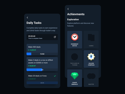 Daily Tasks + Achievments timer game play gamification achievement achievment task quests quest daily tasks