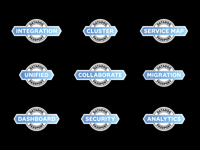 Passport Program Badges vector badges icon design branding