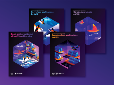 AWS eBooks cover art ebook hexagon vector design branding