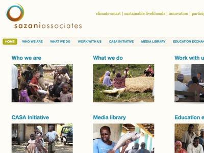 Sazani Screenshot web site