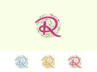Flower Shop Logo Variation
