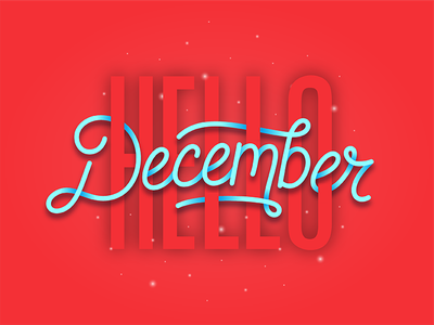 Hello, December! wonderland type letters lettering cold snow holidays christmas winter december