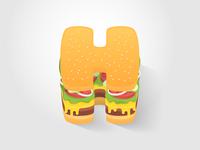 H for Hamburger
