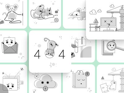 Empty State Illustration Kit icon 404 illustration web illustration mobile illustration kit empty state web app vector ui design illustration