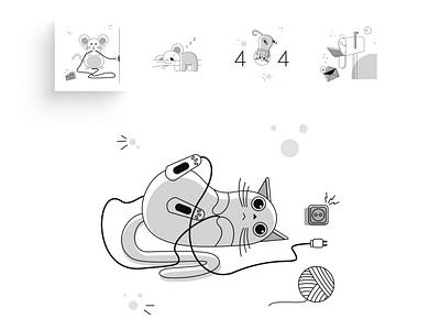Empty State Illustration Kit app mobile connection error website ui illustration ui design icon illustration illustration kit not found empty state 404