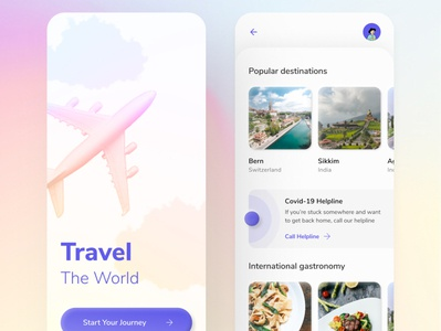 Travel App UI ✈️ sketch app adobe xd figma neumorphic neumorphism android app ios travelling app app design interface user experience design user interface ui ux travel app design travel tourism travel app