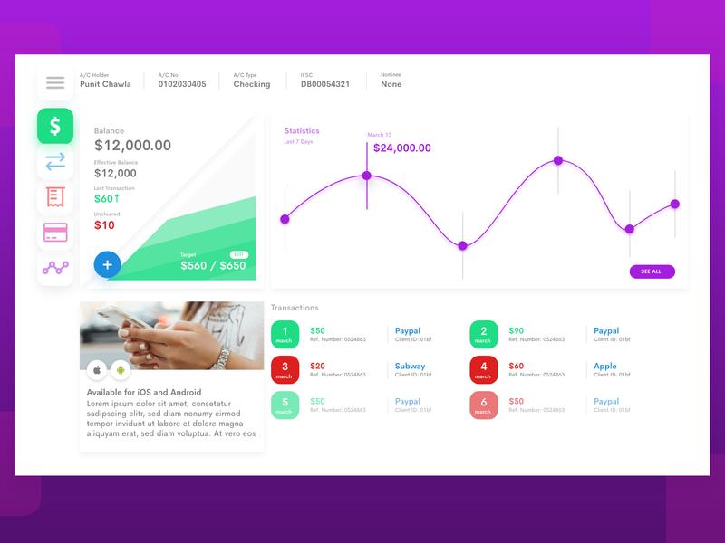 Dashboard Web UI app banking app banking website web app website money banking web design and development dashboard web design ux user experience interface design ui user interface