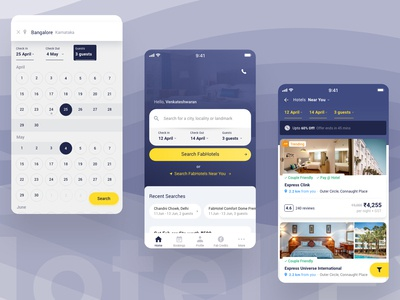 Hotel Booking UI Design ui ux adobe xd interface interaction design search ui homepage design app ios user interface user experience interaction hotel ui ux ux design ui design app design hotel search hotel booking