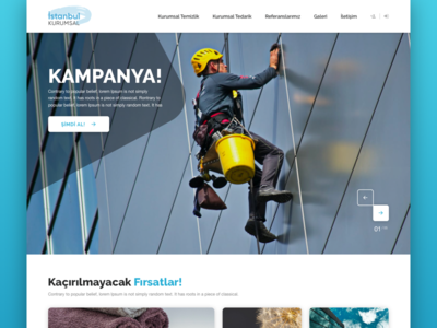 Re-design for Istanbul Kurumsal cleaning company